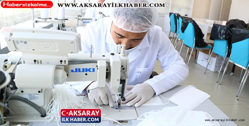 Aksaray Belediyesi Günlük 10 Bin Maske Üretiyor