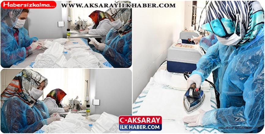 Aksaray Belediyesi Maske Üretimine Başladı