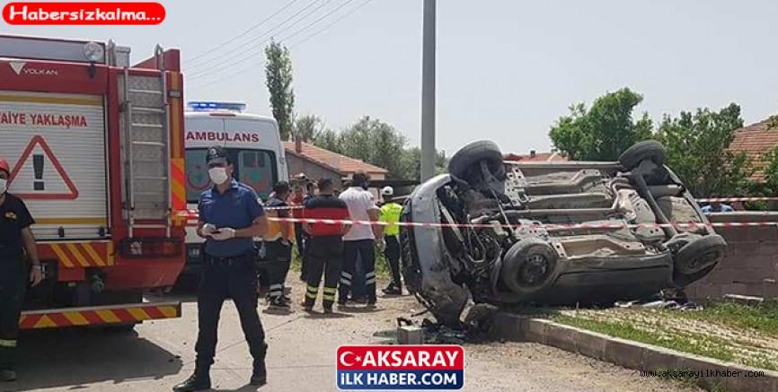 Aksaray'da Araç Takla Attı 1 Kişi Öldü